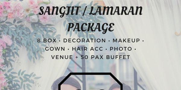 SANGJIT PACKAGE (Bridal&Gown,Decor,Photo,Venue 50 pax buffet)