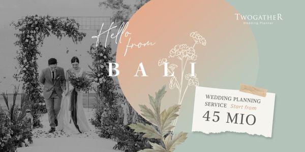 BALI WEDDING PLANNING SERVICE up to 200 pax