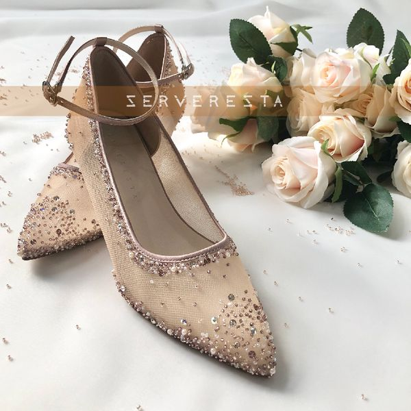 VINETTE - ROSEGOLD - Strap - 5cm - Wedding Shoes - Party Shoes