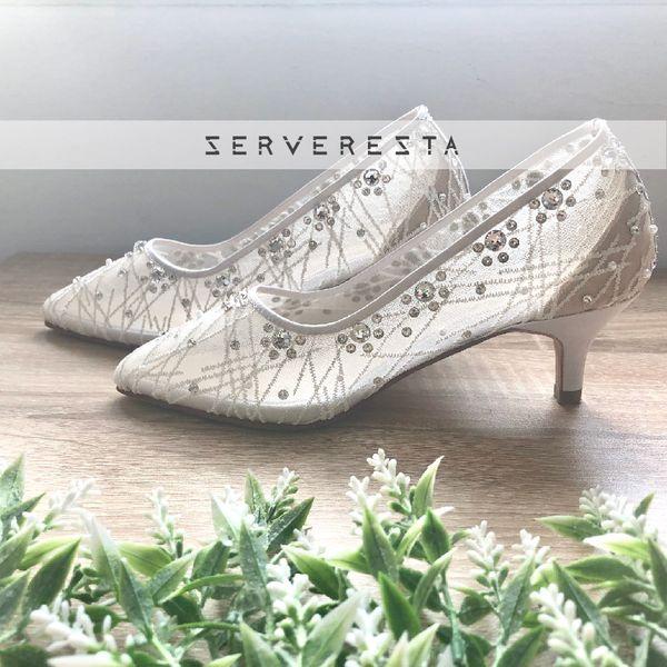 VINETTE - WHITE - 5cm - Wedding Shoes - Bride Shoes - Party Shoes