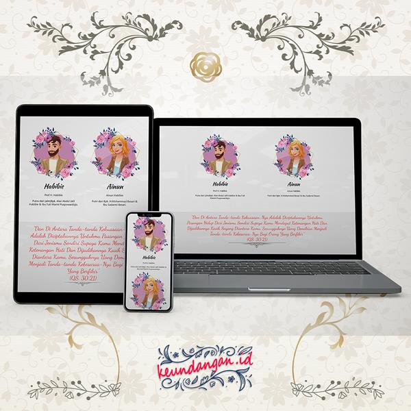 Website Wedding Invitation - DKN01
