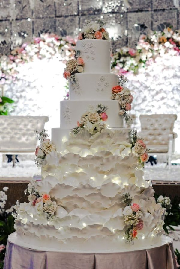 7 Tiers Wedding Cake