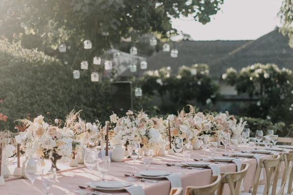 Dinner Reception Decoration (Long Table) - 100 pax