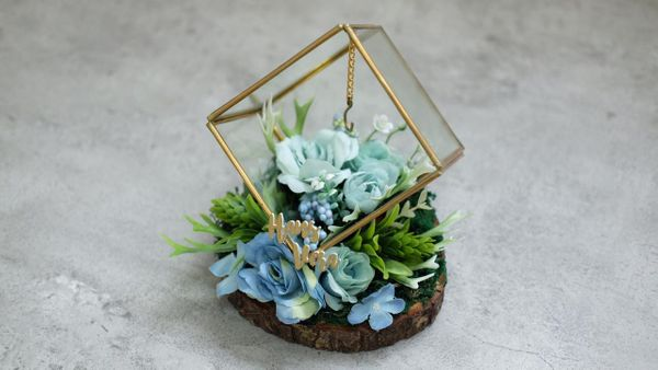 Glass Box (Square) Ring Bearer