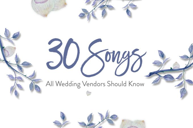 30 songs all wedding vendors should know bridestory business blog the right love songs are just as painstaking for vendors as it is for the clients a videographer must know which songs are perfect for which wedding junglespirit Choice Image