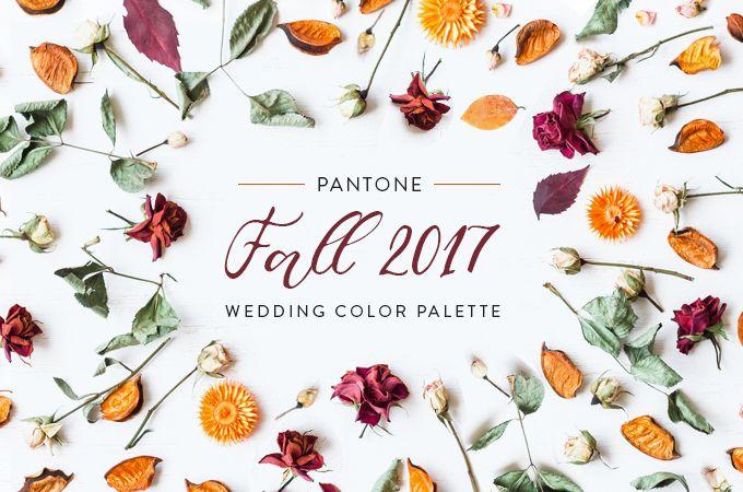 3 refreshing wedding palettes from pantone s fall 2017 fashion