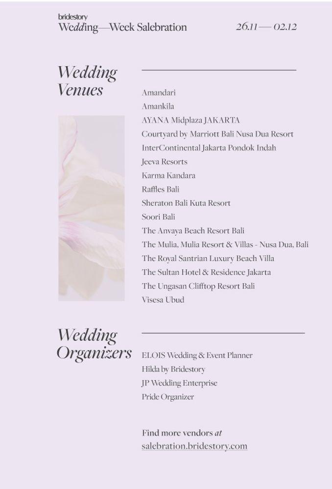 Cek Promo Gedung Pernikahan dan Wedding Organizer Terfavorit di Bridestory Wedding Week Salebration Image 1