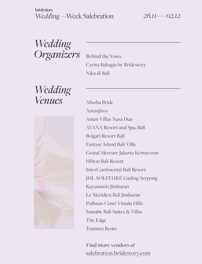 Promo Berlanjut! Paket Gedung Pernikahan dan Wedding Organizer Paling Dicari di Bridestory Wedding Week Salebration Image 1