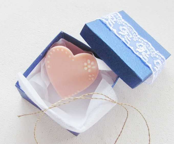 Heart Shaped Cookies Soap for wedding favors by Soap Fairy