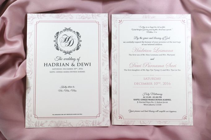 Hadrian Dewi Wedding Invitations by Blumento Cards Bridestorycom