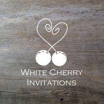 White Cherry Invitations