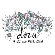 dora prints and paper goods
