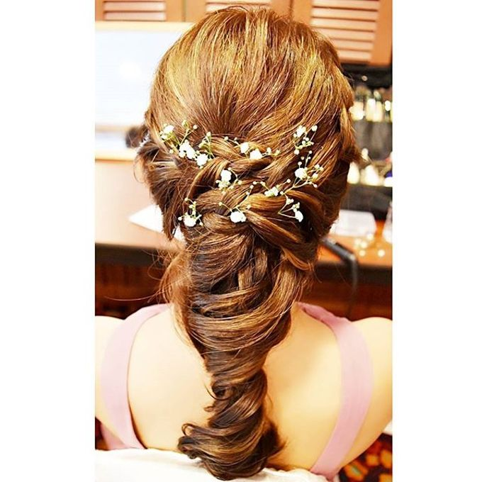 Half Up & Let Down & Pony Bridal Hairstyles by Après Makeup - 003