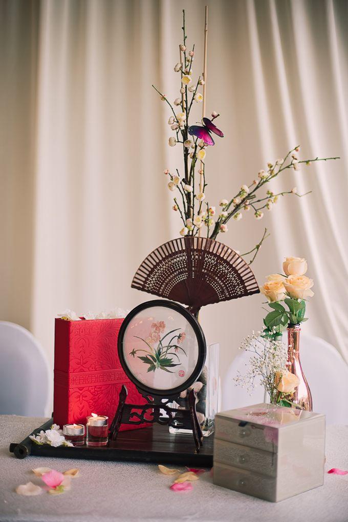 Oriental Zen Wedding Styling l ShawnxHeon by Cinderella Dream - 002
