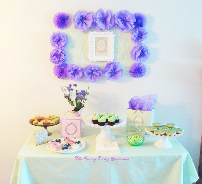 Laduree themed dessert table by Fancy Paperie - 003