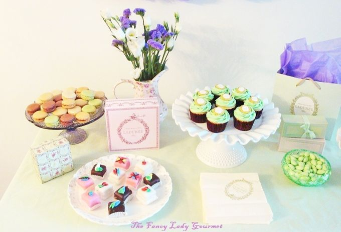 Laduree themed dessert table by Fancy Paperie - 004