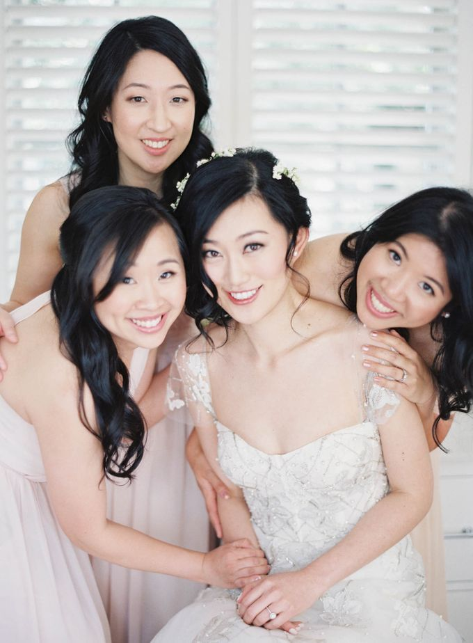 Blue & White Garden Wedding at Carneros Inn by Jen Huang Photo - 016