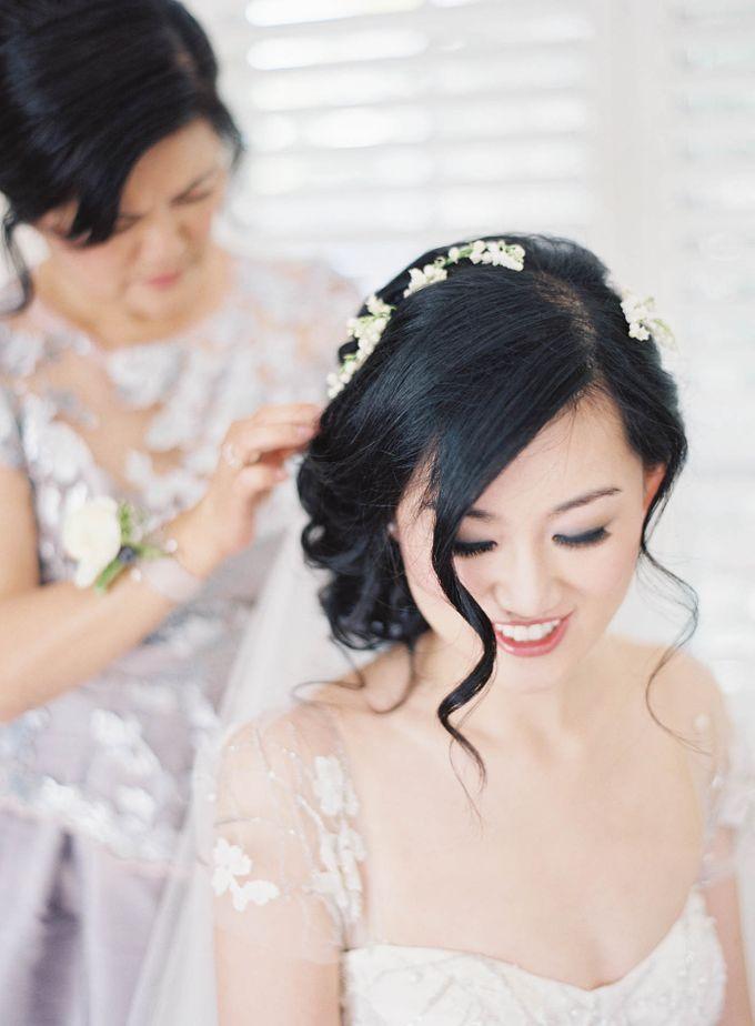 Blue & White Garden Wedding at Carneros Inn by Jen Huang Photo - 017