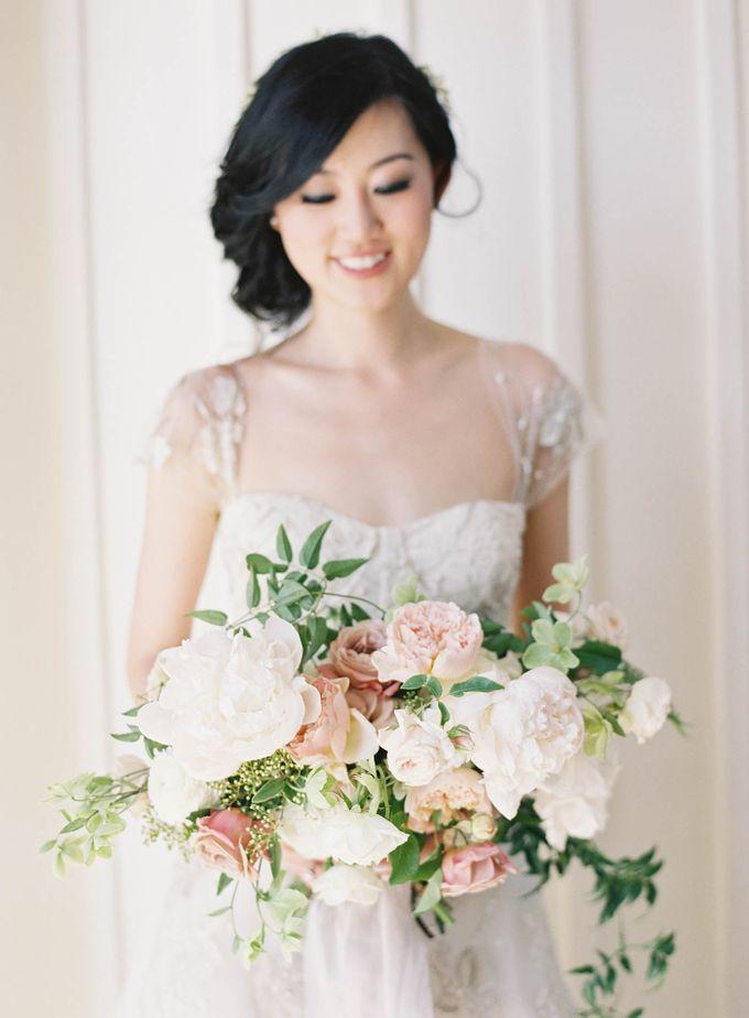 Blue & White Garden Wedding at Carneros Inn by Jen Huang Photo - 018