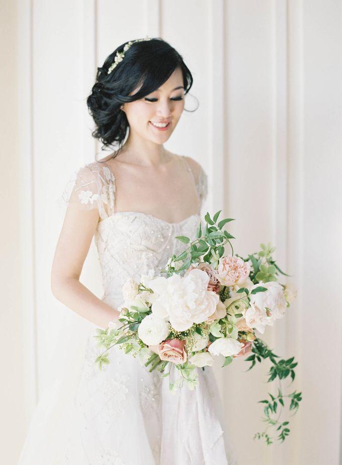 Blue & White Garden Wedding at Carneros Inn by Jen Huang Photo - 020