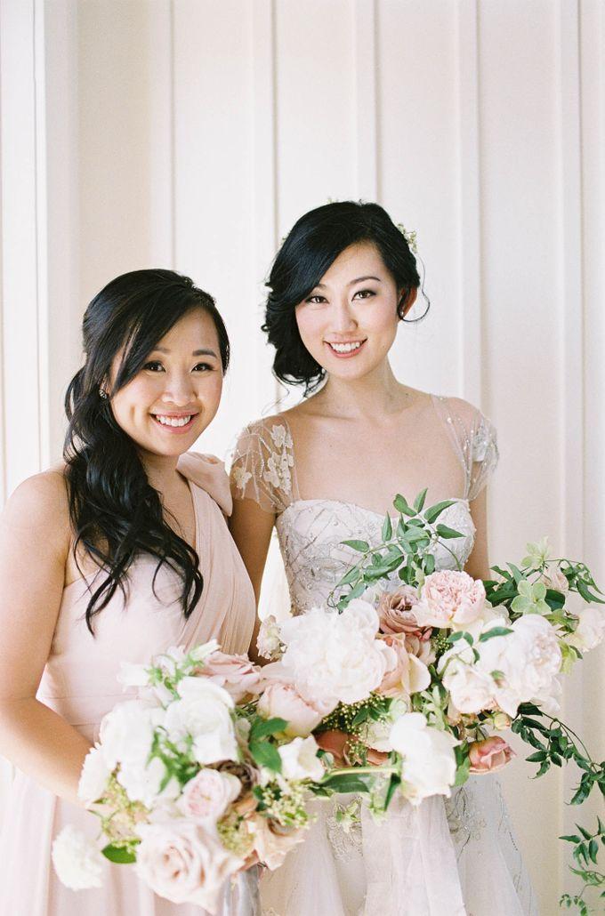 Blue & White Garden Wedding at Carneros Inn by Jen Huang Photo - 021
