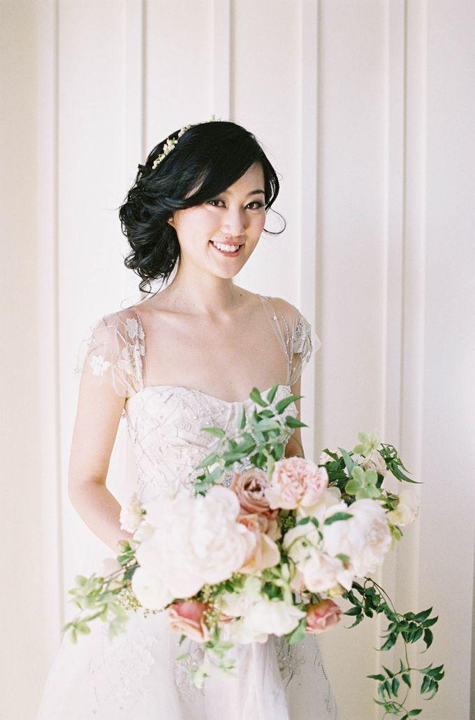 Blue & White Garden Wedding at Carneros Inn by Jen Huang Photo - 022