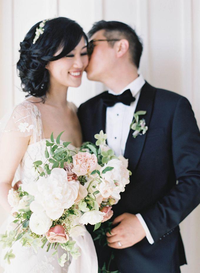 Blue & White Garden Wedding at Carneros Inn by Jen Huang Photo - 024