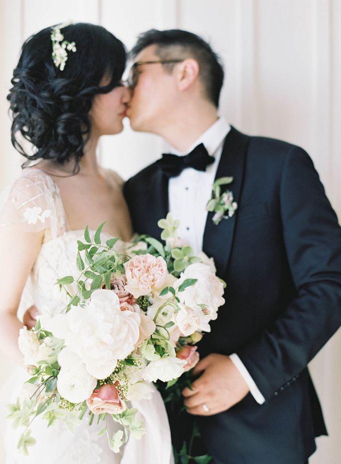 Blue & White Garden Wedding at Carneros Inn by Jen Huang Photo - 025