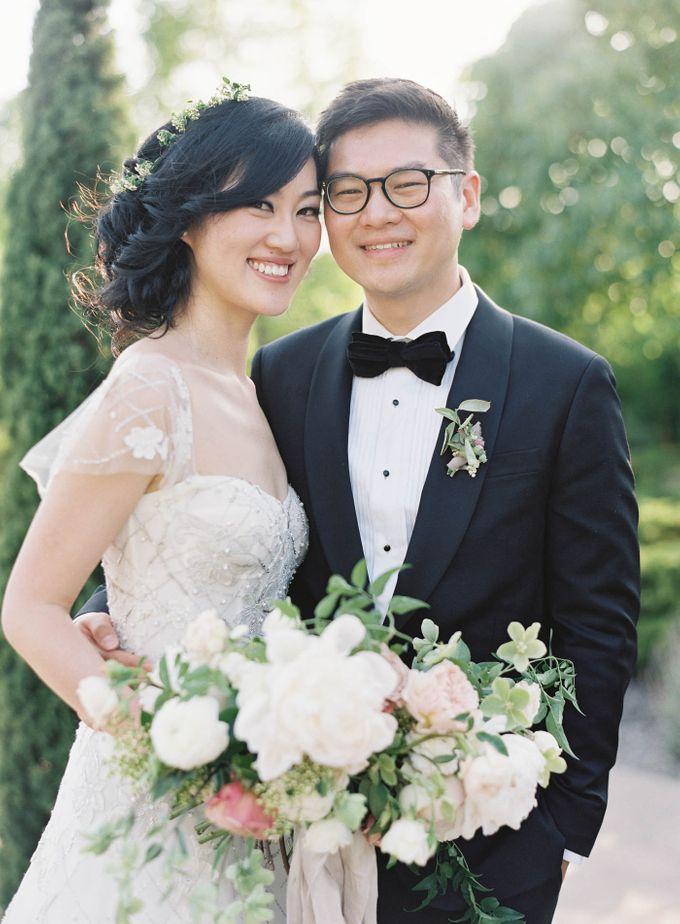 Blue & White Garden Wedding at Carneros Inn by Jen Huang Photo - 030