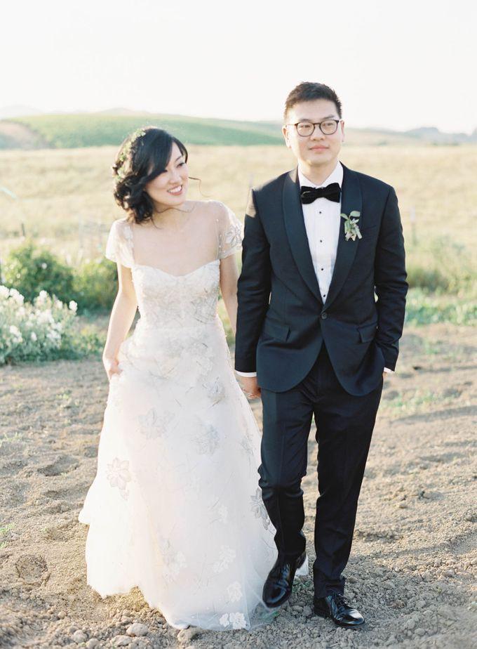 Blue & White Garden Wedding at Carneros Inn by Jen Huang Photo - 032