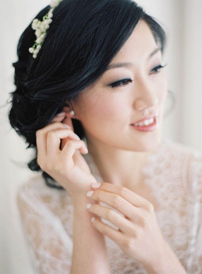 Blue & White Garden Wedding at Carneros Inn by Jen Huang Photo - 009