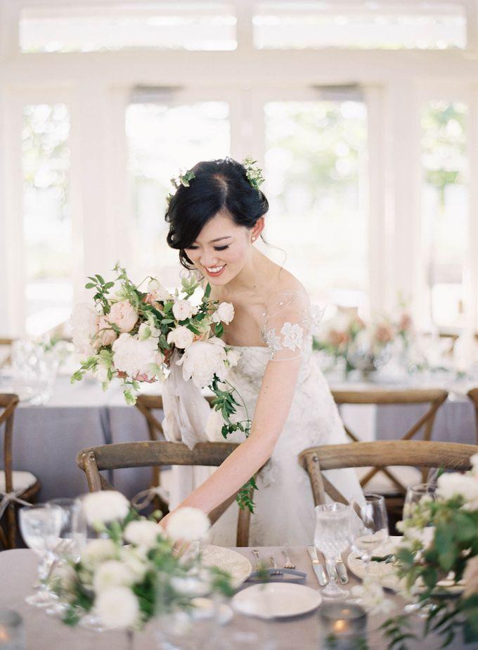 Blue & White Garden Wedding at Carneros Inn by Jen Huang Photo - 050