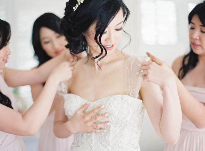 Blue & White Garden Wedding at Carneros Inn by Jen Huang Photo - 014