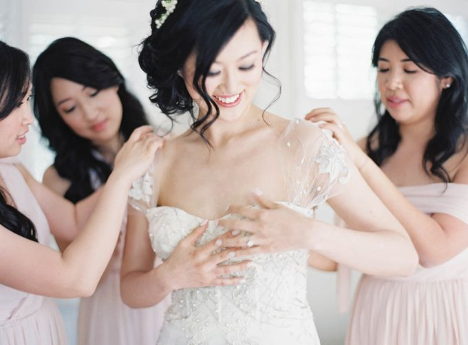 Blue & White Garden Wedding at Carneros Inn by Jen Huang Photo - 015