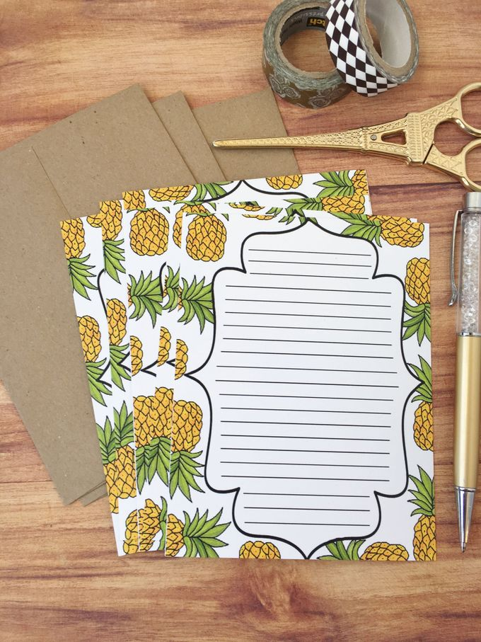 Pineapple wedding invitation suite by Fancy Paperie - 006