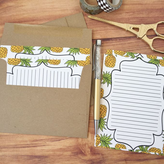 Pineapple wedding invitation suite by Fancy Paperie - 005