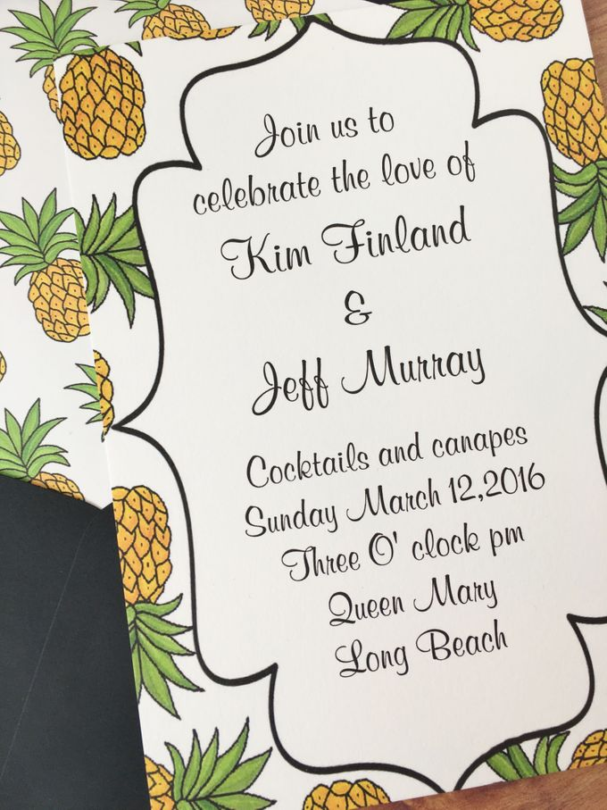 Pineapple wedding invitation suite by Fancy Paperie - 003