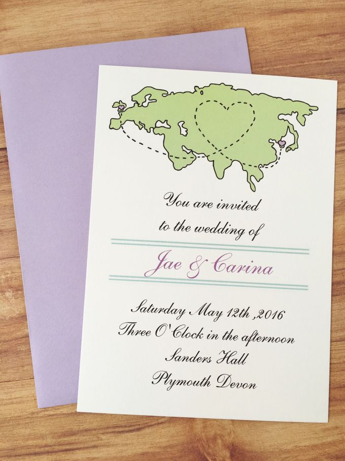 Long distance wedding invitations by Fancy Paperie - 002