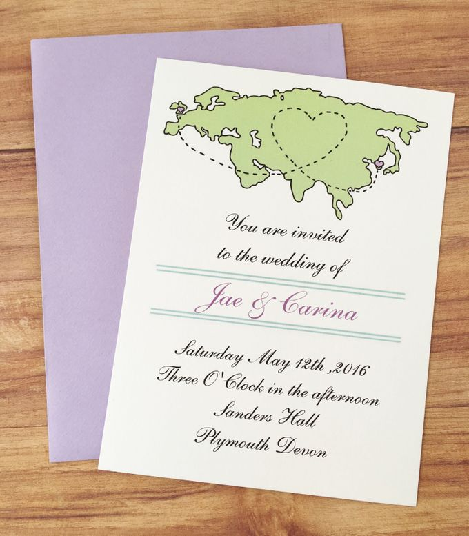 Long distance wedding invitations by Fancy Paperie - 003
