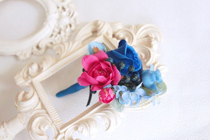 Contrast Combination of Royal Blue and Pink by Cup Of Love Design Studio - 002