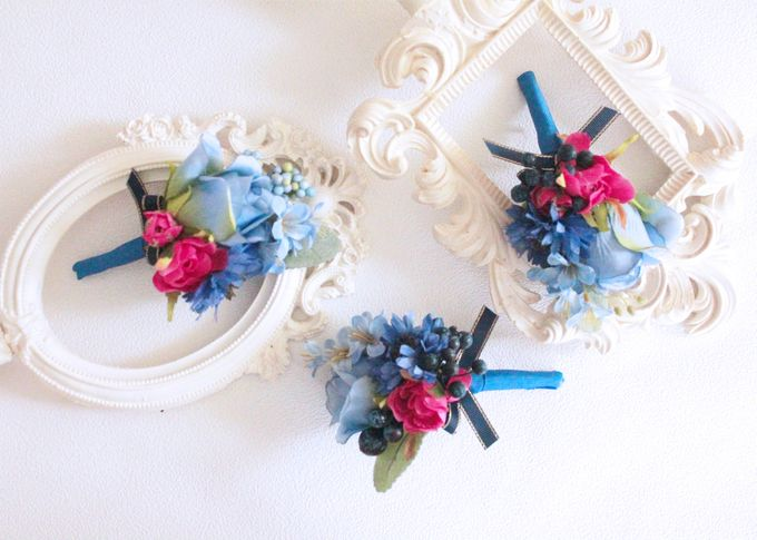 Contrast Combination of Royal Blue and Pink by Cup Of Love Design Studio - 004