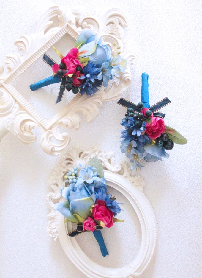 Contrast Combination of Royal Blue and Pink by Cup Of Love Design Studio - 005
