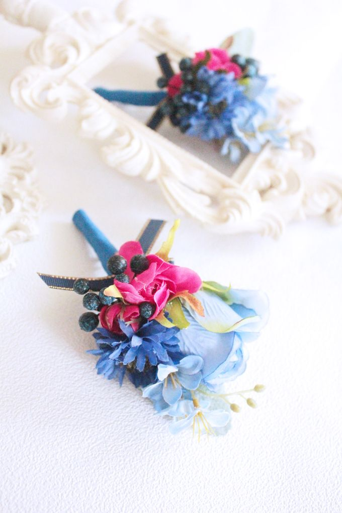 Contrast Combination of Royal Blue and Pink by Cup Of Love Design Studio - 006