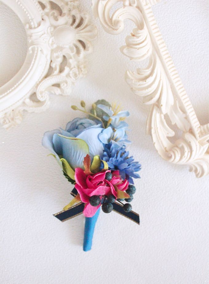 Contrast Combination of Royal Blue and Pink by Cup Of Love Design Studio - 007