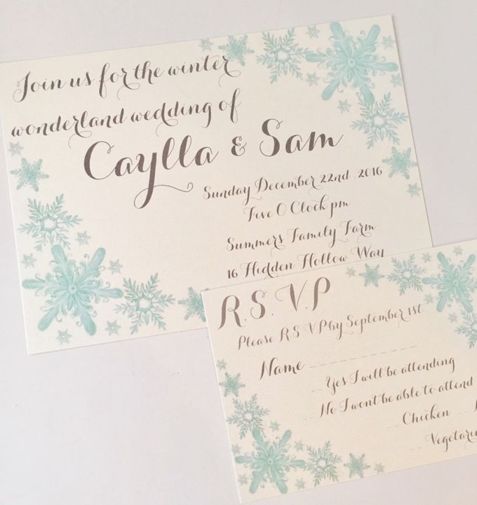 Winter wonderland wedding by Fancy Paperie - 002