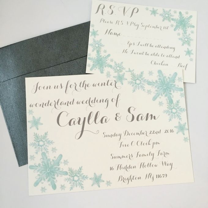 Winter wonderland wedding by Fancy Paperie - 003