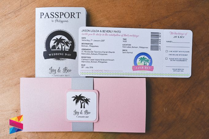 Passport Wedding Invitation by Stunro CreativeWorks – Wedding Invitation Passport