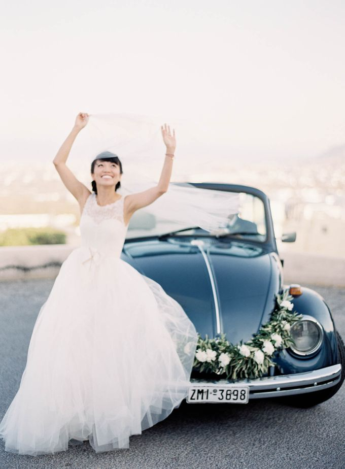 Classic and Beautiful Olive Green and Sea Blue Wedding in Santorini, Greece by Jen Huang Photo - 036