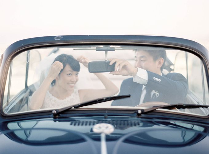 Classic and Beautiful Olive Green and Sea Blue Wedding in Santorini, Greece by Jen Huang Photo - 037