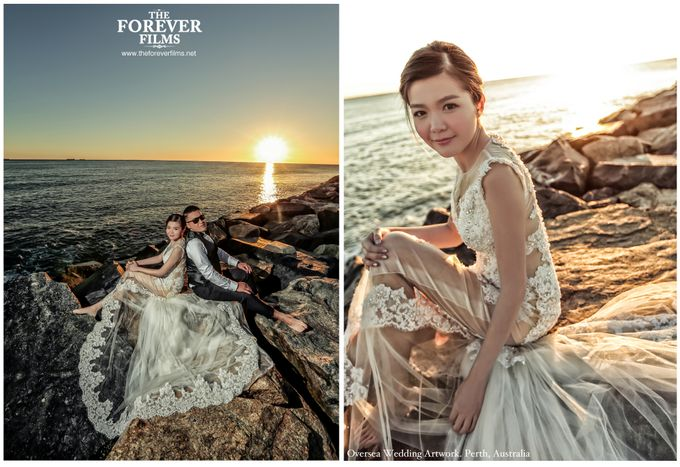 Oversea Wedding Artwork - Perth Australia by The Forever Films - 007